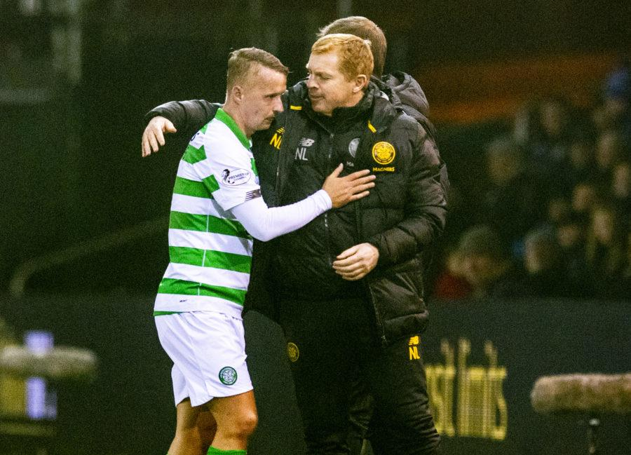 Support: Lennon says he will 'back' Leigh griffiths.