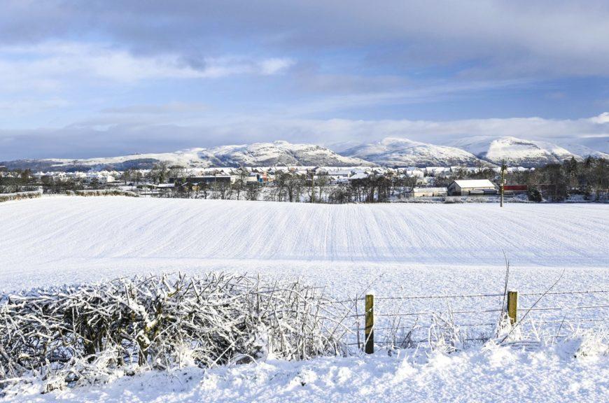 A beautiful snowy Bannockburn.