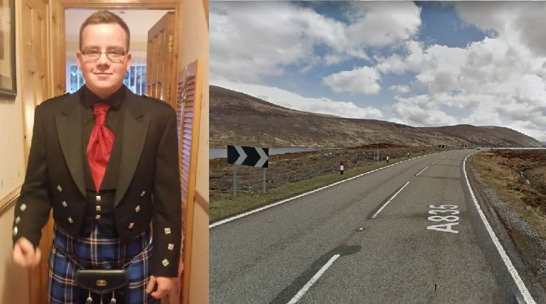 Crash: Kyle Robertson died in a collision on the A835.