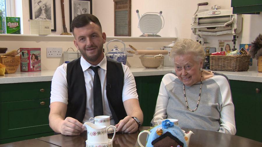 Margaret Mackie and carer Jamie Lee Morley