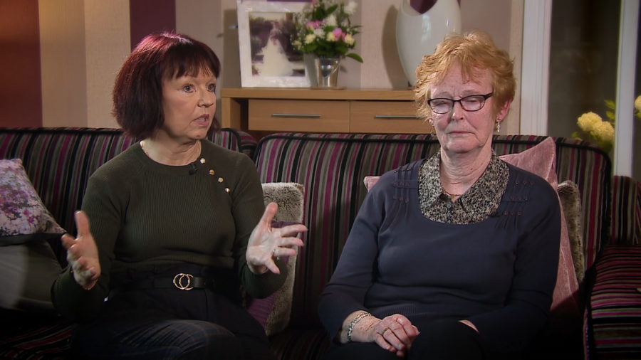 Carole Gillies and Isabelle Thompson, Arlene Fraser's family.