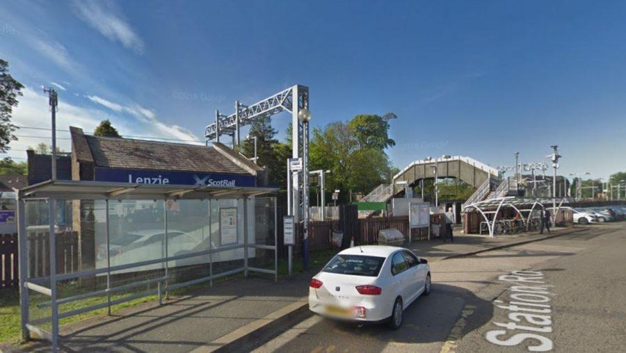 Lenzie railway station.