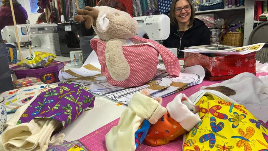 Volunteer sew pouches for Australian animals affected by bushfires