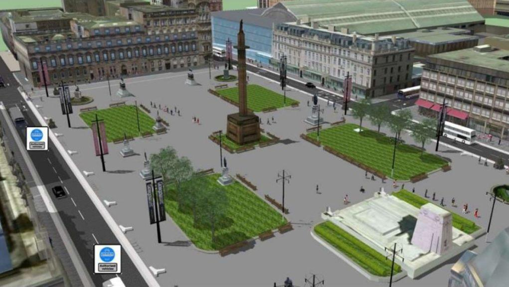 George Square: How the area could look.