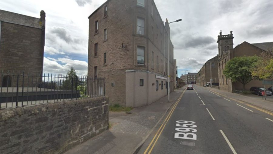 Dundee: The crash happened at the junction of Brown Constable Street and Victoria Street.