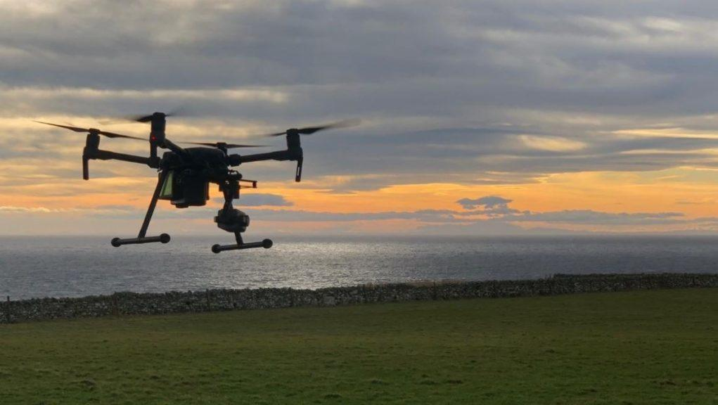 Drone: Police Scotland's Air Support Unit is helping with the case.