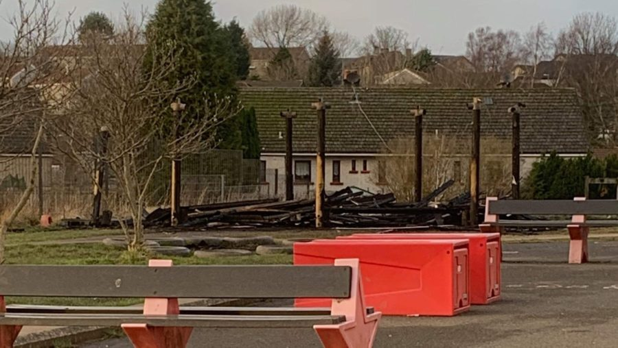 Burnt to the ground: Outdoor classroom was destroyed in blaze.