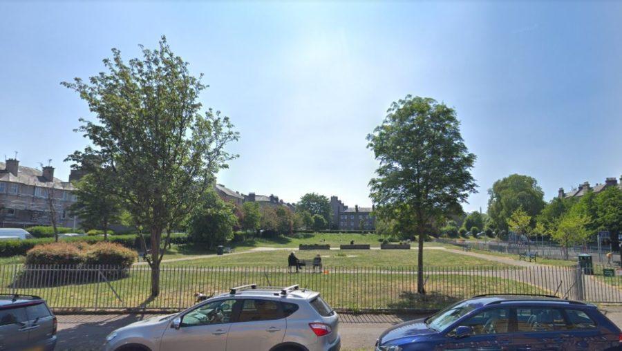 Taped off: Dalmeny Park, Leith