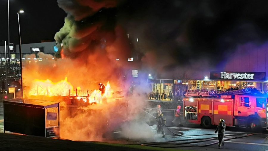 Deliberate: Double decker bus was set on fire