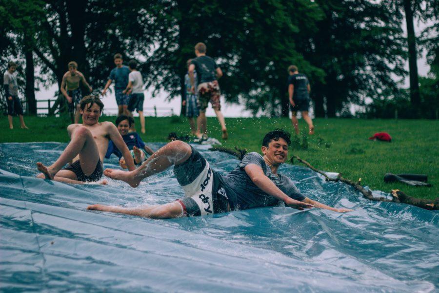 Water slide.