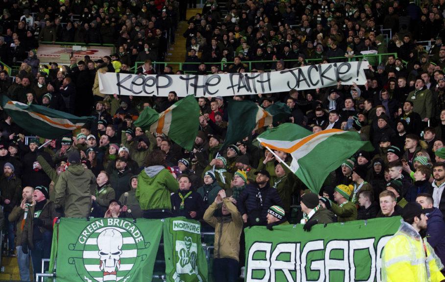 Keep the faith: Banner for former captain.