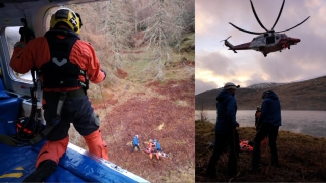 Lochaber Mountain Rescue Team posted images on Facebook of the rescue.