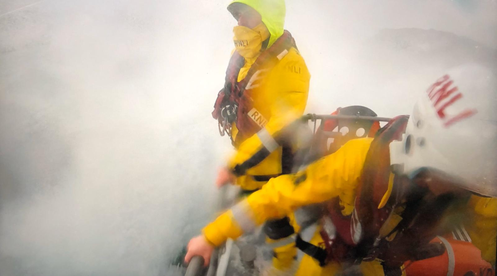 Oban RNLI lifeboat said it had faced challenging conditions. Photo: RNLI
