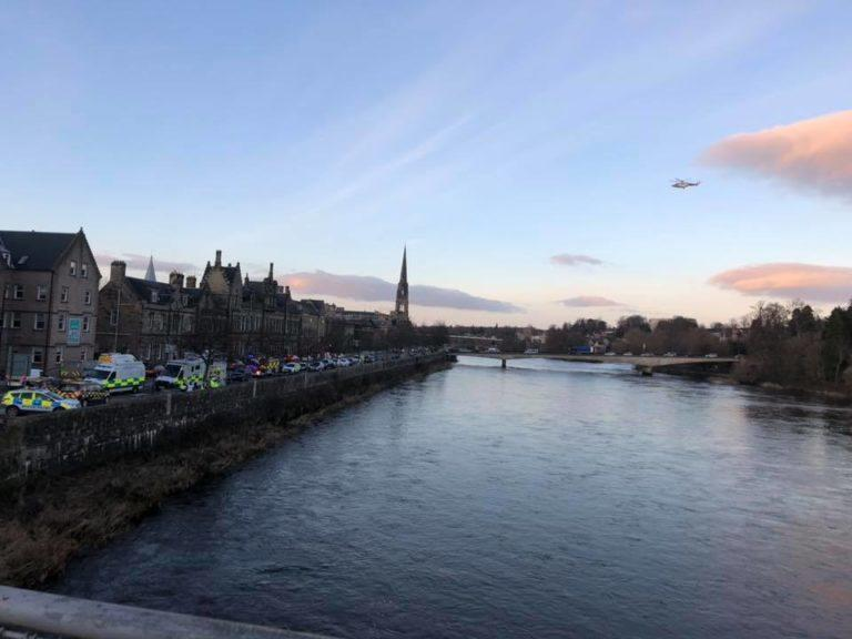 River Tay: Emergency services were alerted on Tuesday afternoon.