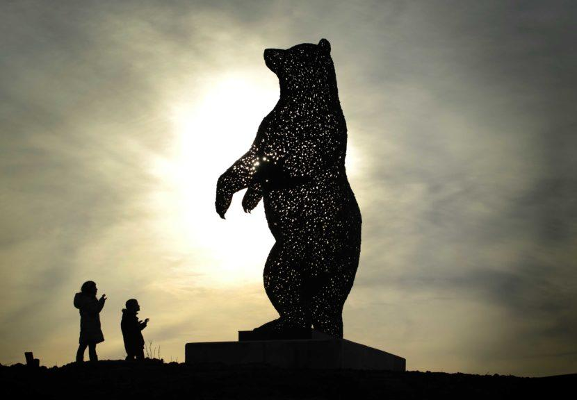 The DunBear: The towering structure was created in tribute to John Muir.
