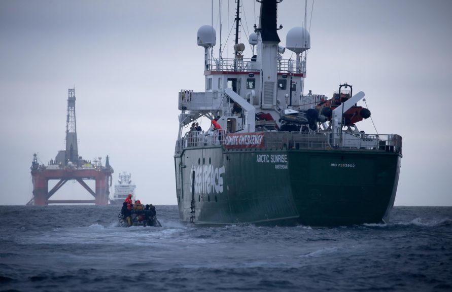 Greenpeace: Arctic Sunrise shadowed the rig and prevented it from reaching the oil field for 12 days.