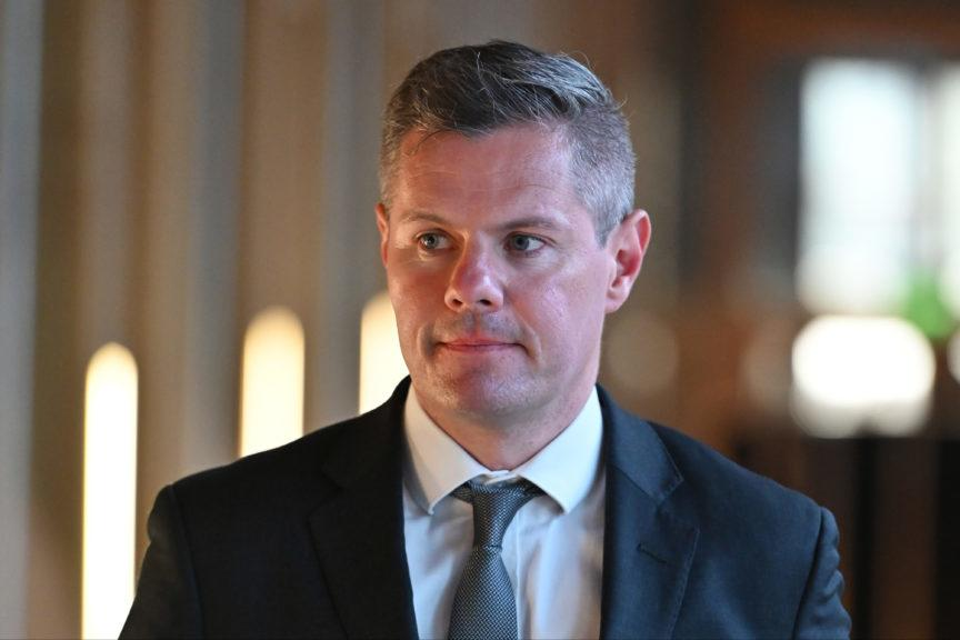 Resigned: Former Scottish finance secretary Derek Mackay.