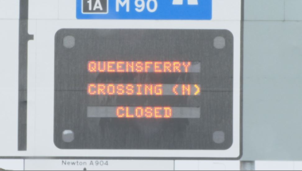 Shut: Queensferry Crossing closed until Wednesday.