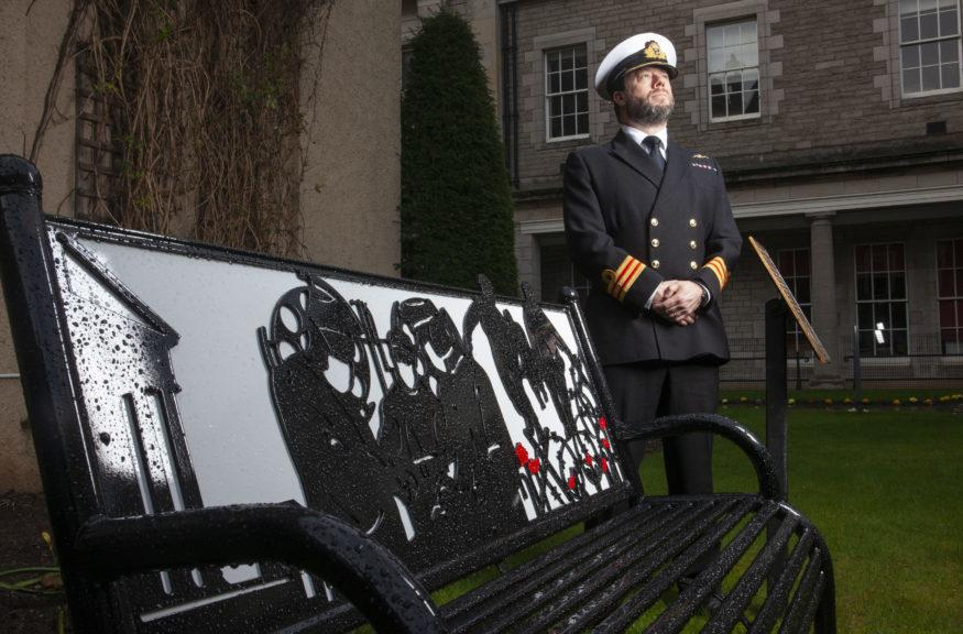 Memorial: Surgeon commander Adam Stannard RN visited the college to mark the grand unveiling.