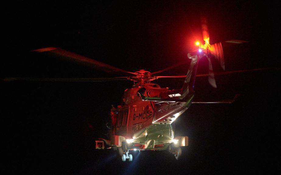 The girl was flown from the scene in a coastguard helicopter.