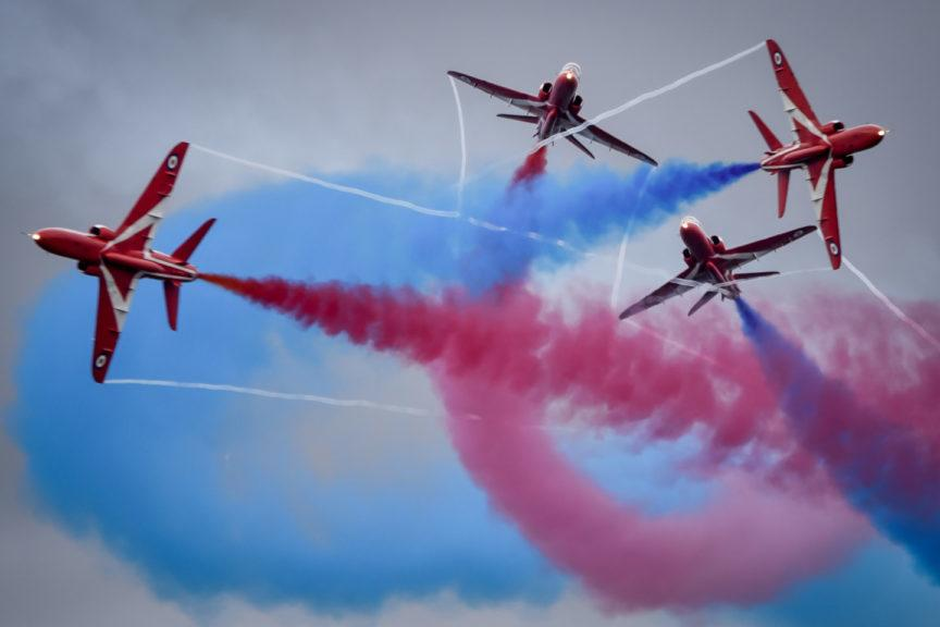 The airshow regularly attracts more than 100,000 visitors.