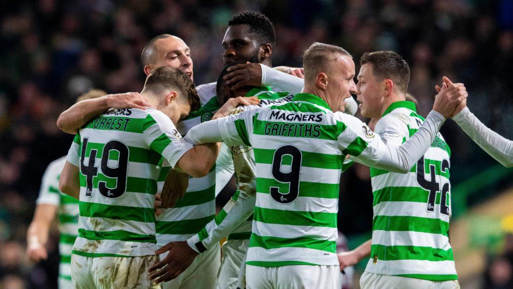 Celtic thumped bottom of the table side Hearts.