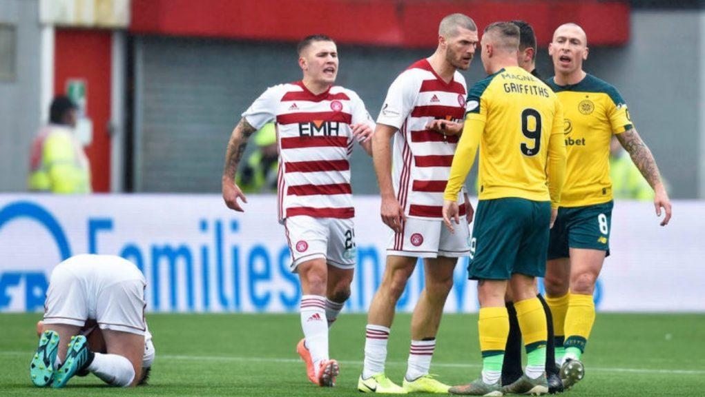 Incident: Players from Hamilton and Celtic clashed.
