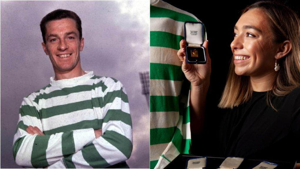Legend: Stevie Chalmers' medals will be put to auction.