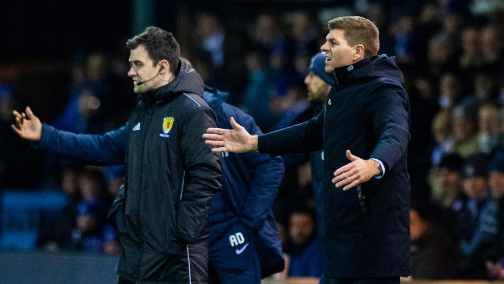 Gerrard was frustrated with Rangers' performance.