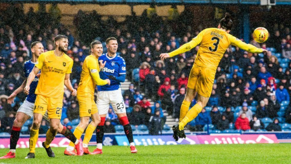 Penalty claim: Steven Gerrard believes Rangers should have had a penalty.