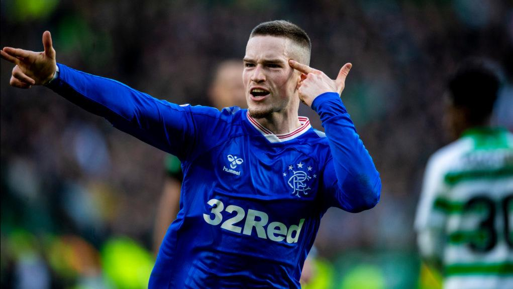 Ryan Kent's celebration was considered as part of the charge.