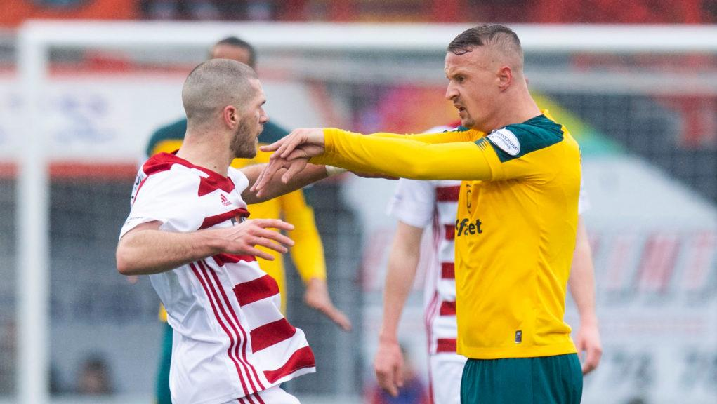 Griffiths was booked during the flashpoint at New Douglas Park.