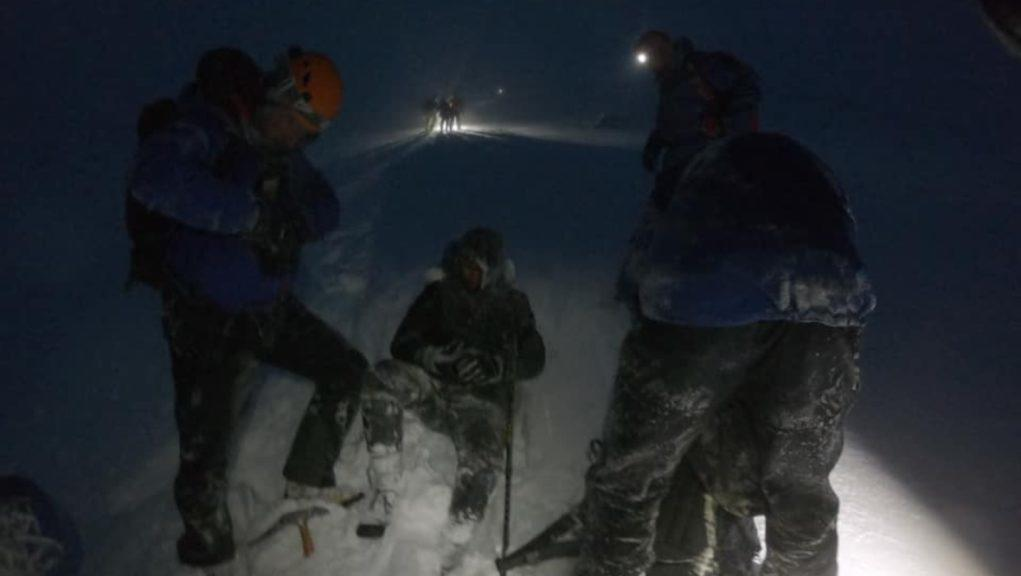 Mountain rescue: A group of people were helped off Ben Nevis.