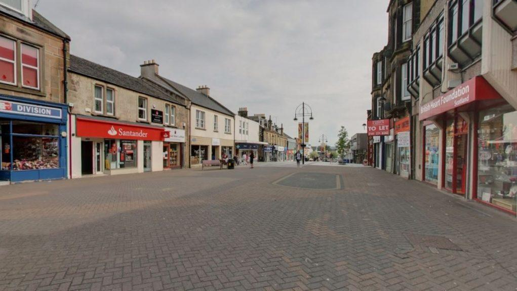 Bathgate: The man was attacked in the George Street area.