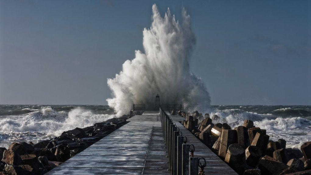 Sea spray: Yellow weather warnings for wind, rain and snow have been put in place.