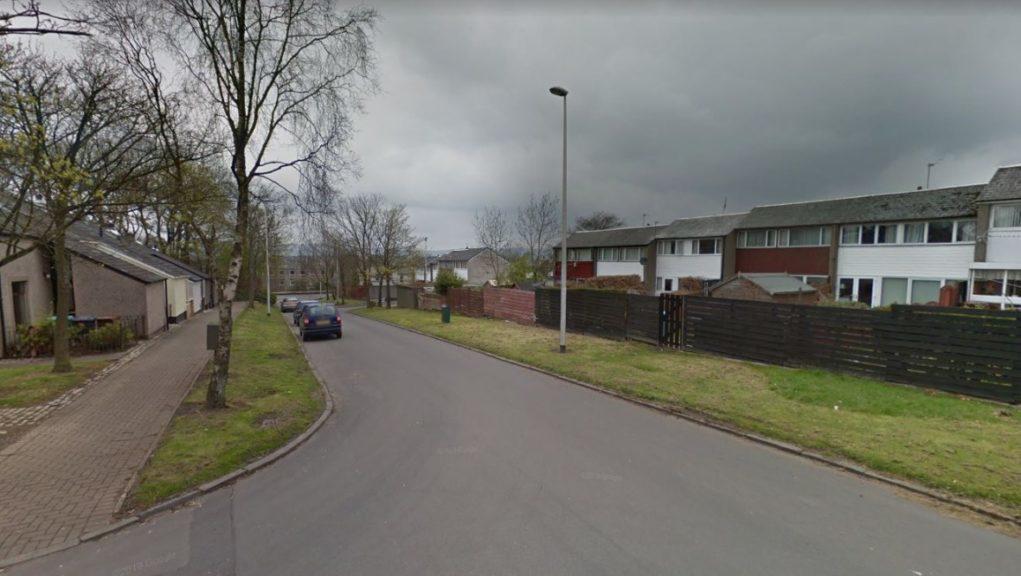 Cumbernauld: The man was taken to hospital.