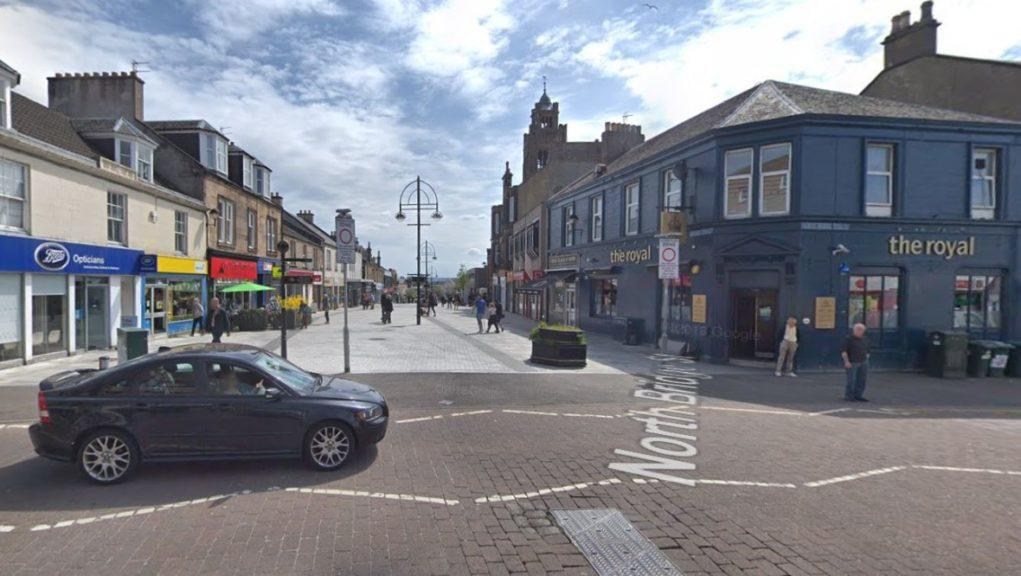 Bathgate: The teenager was attacked in the George Street area.