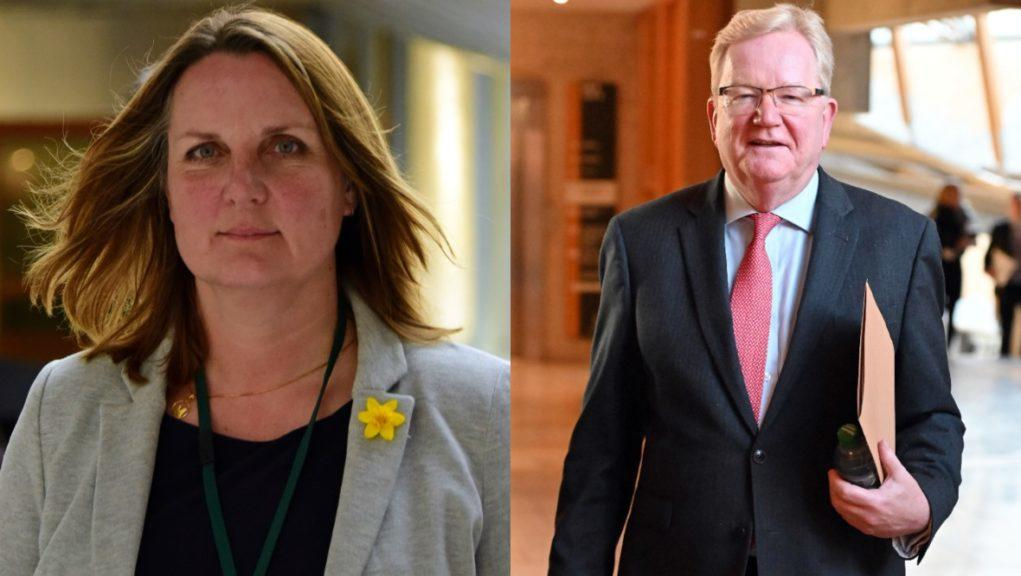 Tories: Carlaw (right) gives no job to rival Ballantyne (left).
