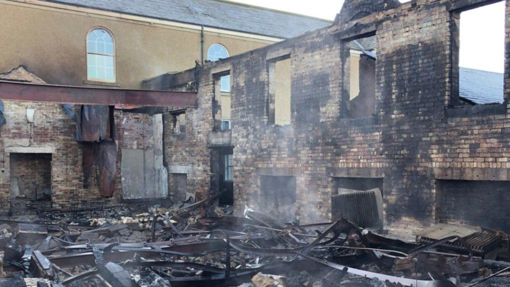 Peebles High School: The facility was severely damaged.