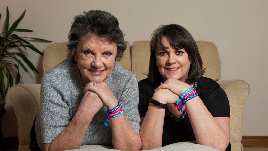 Solidarity: Margaret Duffy with her daughter Marise Nelson.