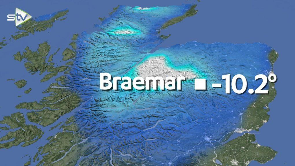 Braemar is the site of the coldest temperature ever recorded in the UK.