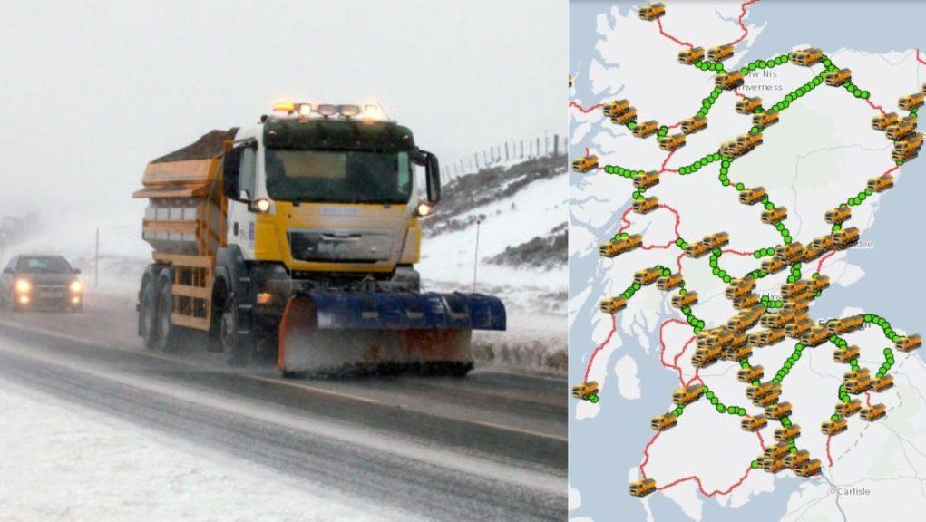 Tracker: Scotland's gritters.