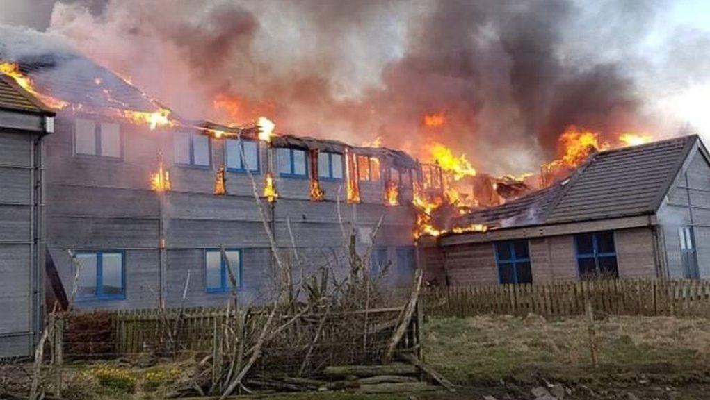 Fair Isle Bird Observatory: The building went up in flames in March 2019.