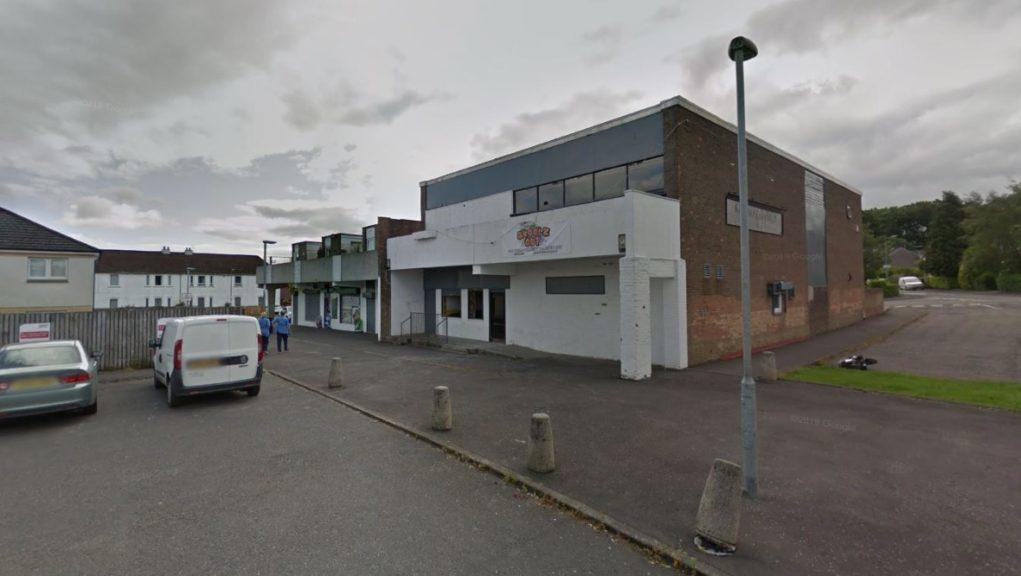 Raid: The Bearsden shop was targeted on Tuesday.