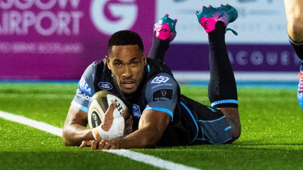 Ratu Tagive scores for Glasgow Warriors earlier this season.