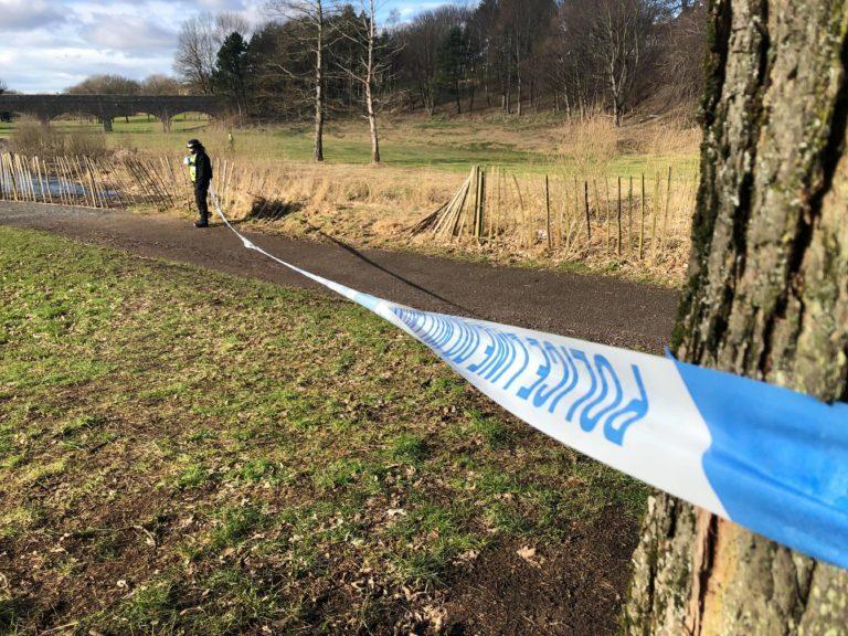 Discovery: the body was found in Dighty Burn in the Fintry area of Dundee.