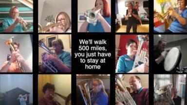 NHS professionals form a virtual band