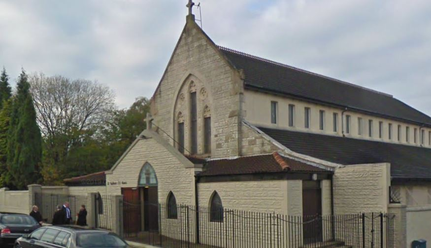 St Cuthbert's: Sign of peace and holy water banned.