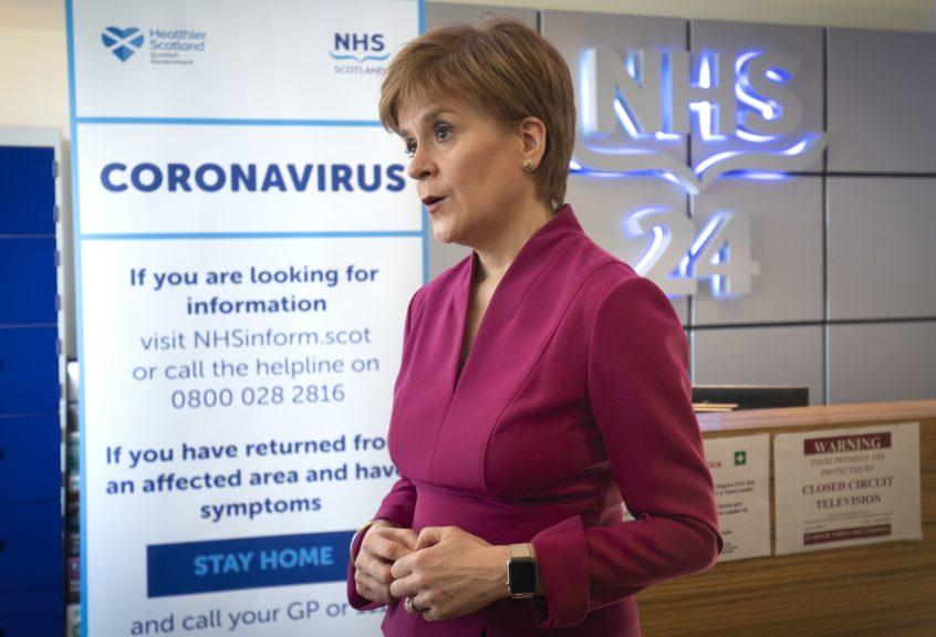 First Minister: Nicola Sturgeon warned that Covid-19 could 'run out of control again'.