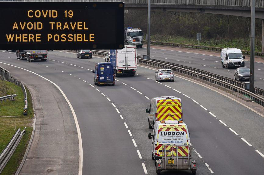 Scotland's roads should be quieter when the travel ban comes into force.